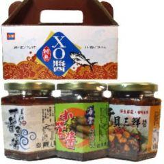 禮盒組<干貝三鮮、小管、丁香魚>(海豐)