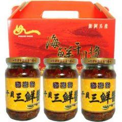 干貝三鮮醬禮盒<3瓶>(如意坊)